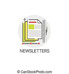 新聞, 適用, newsletter, 網, アイコン