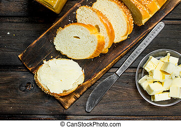 新鮮なパン, そして, butter.