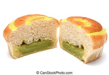 新鮮なパン, 隔離された, white.