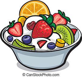 新鮮な果物 サラダ