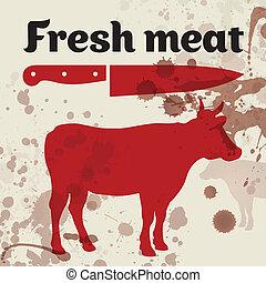 新鮮な肉, 牛肉