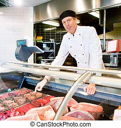 新鮮な肉, 肉屋