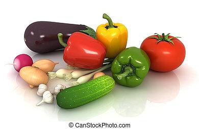 新鮮な野菜, 緑は 去る