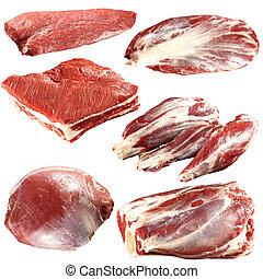 新鮮的肉, 彙整, 未加工