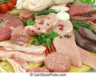 新鮮的肉, 未加工