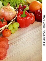 新鮮的蔬菜, 水果