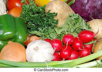 新鮮的蔬菜