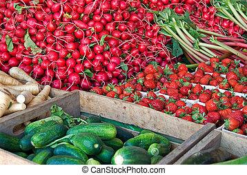 新鮮的農產品, 市場