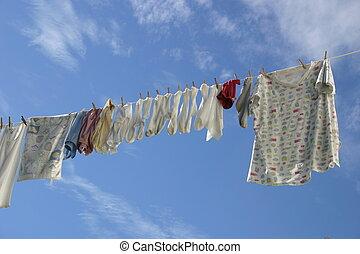 新鮮, 洗衣房