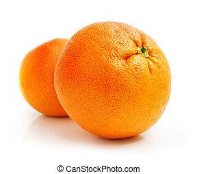 新鮮, 葡萄柚, 水果, 被隔离, 在懷特上