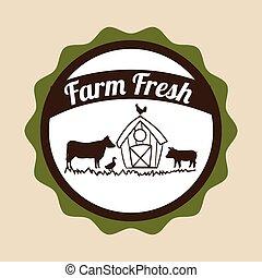 新鮮, 農場