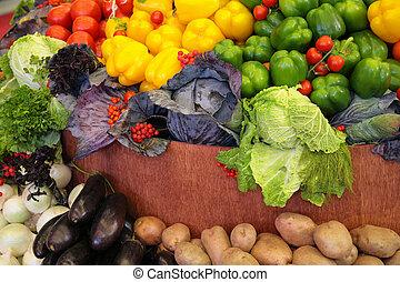 新鲜的蔬菜, 品种