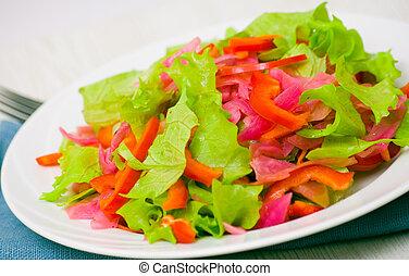 新鲜的蔬菜, 色拉