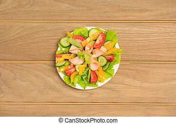 新鲜的蔬菜, 色拉, 食物