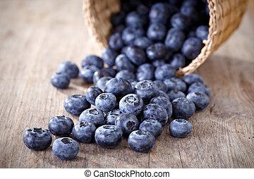 新鲜, blueberries