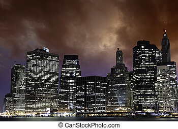 新, 傍晚, 約克, 城市