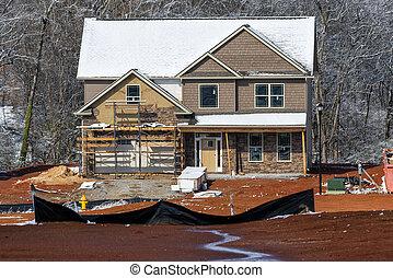 新, 冬天, 家建設