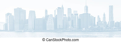新, 地平線, 城市, 約克, 全景