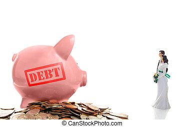 新, 夫婦, 債務