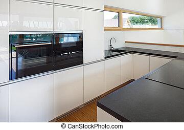 新, 好, 厨房, 在中, 内部, 在中, 新的房子