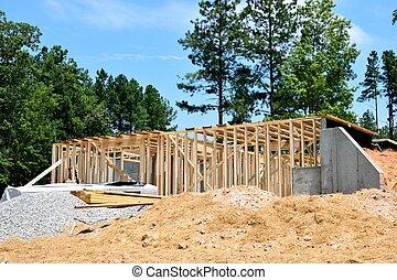 新, 建設, 家