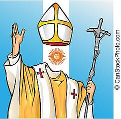 新, 教皇, 由于, argentina 旗