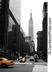 新, 曼哈頓, 黃色, emipre, 約克
