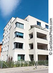 新, 白色, multi-family, 房子, 在中, 柏林