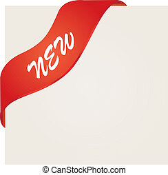 新, 紅色, 角落, 帶子
