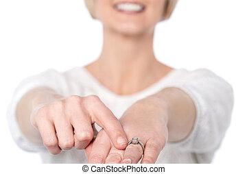 新, 鑽石, 我, ring.