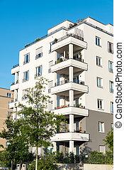 新, multi-family, 房子, 在中, 柏林