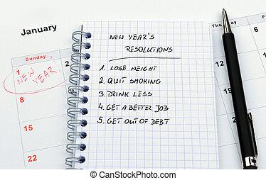 新, resolutions, 年` s
