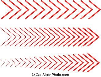 方向, セット, 線である, 横に, コレクション, 4, デザイン, 矢, サイン, しまのある