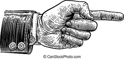 方向, 指すこと, ビジネス, 手, 指, スーツ