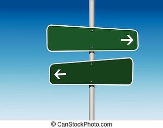 方向, 方法, 2, ブランク, 道標