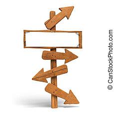 方向, 空間, 通訊, 在上方, 在那裡, 箭, 不同, 空白, message., 背景, 很多, 前面, 白色,...
