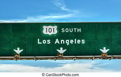 方向, 101, 高速道路, アンジェルという名前の人たち, southbound, los, 印