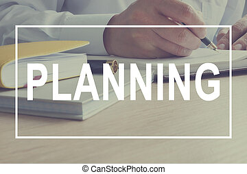 方向, work., concept., 作戦, マネージャー, 計画, action.