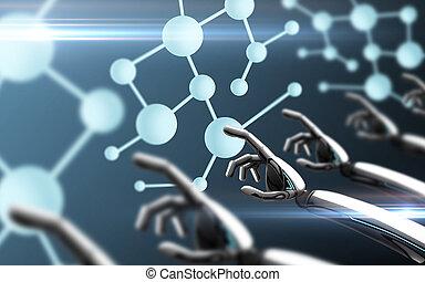 方式, 感動的である, 分子, ロボット, 手