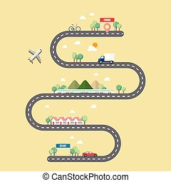 方式, ......的, 運輸, 由于, 鎮, 路
