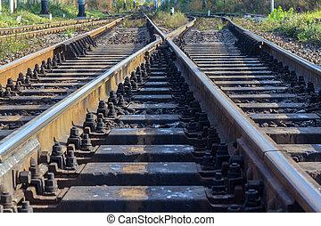 方法で前方へ, 鉄道