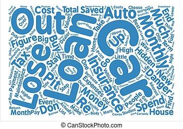 ∥, 方法, 決定するため, 上に, a, 自動車ローン, 単語, 雲, 概念, テキスト, 背景