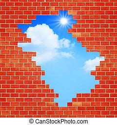 方法, freedom., 抽象的, 背景, デザイン, 建築である, あなたの
