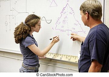 方程式, 学生, 仕事