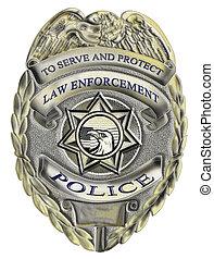 施行, 法律, バッジ, 警察