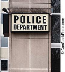 施行, 警察は署名する, ダウンタウンに, 部門, 地区, 法律