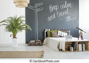 旅行者, 寝室