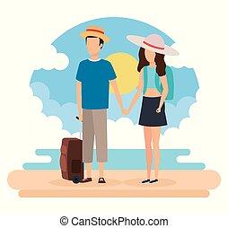 旅行者, 恋人, デザイン