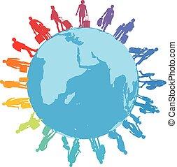 旅行者, refugees, 地球, migrants