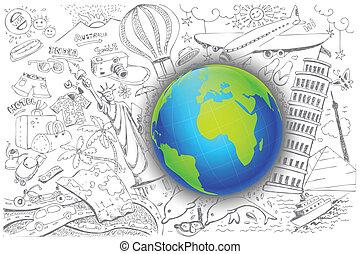 旅行, のまわり, 地球